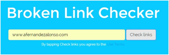 Formulario de entrada de Buzz Broken Link Checker