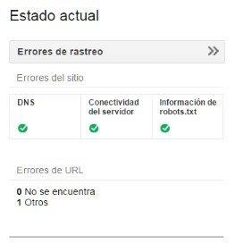Errores de rastreo de la Consola de Búsqueda de Google