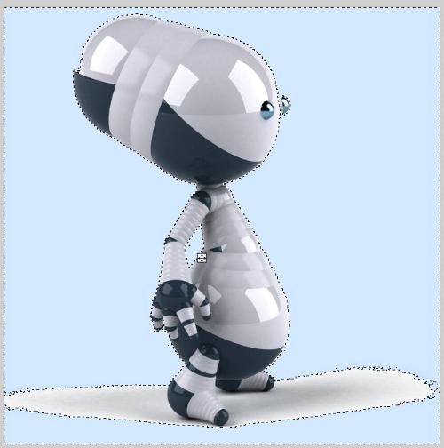 Seleccionar fondo del robot con varita mágica de paint.net
