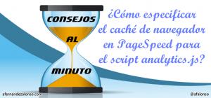 Tiempo en caché de navegador del script analytics.js para PageSpeed