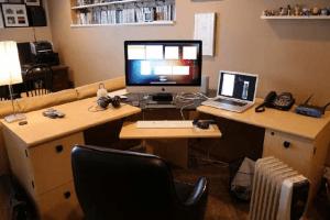 Oficina en casa para teletrabajo o freelance