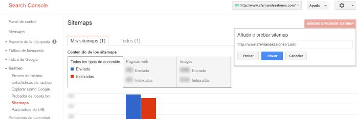 Añadir el sitemap en la consola de búsqueda de Google