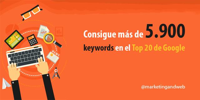 Cómo conseguir más de 5.900 keywords en el TOP20 de Google