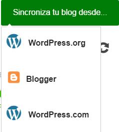 BlogsterApp permite sincronizar con WordPres, Blogger y WordPress.com