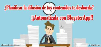 BlogsterApp: Planificación automática de la Difusión de Contenidos