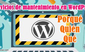 ¿Qué debe tener el servicio de mantenimiento de una web en WordPress?
