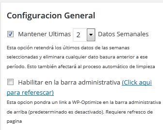 Configurar el periodo de validad de revisiones y papelera en AutoOptimize