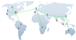 Las redes CDN tienen sus servidores alrededor del mundo