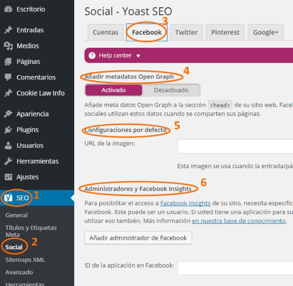 Configuración de los metadatos Open Graph de Facebook con Yoast