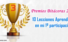 Participación en Premios Bitácoras 2016: Lecciones aprendidas