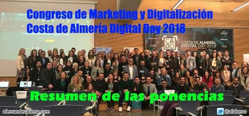 Ponentes y asistentes al Congreso Costa Almería 2018 #CADD18