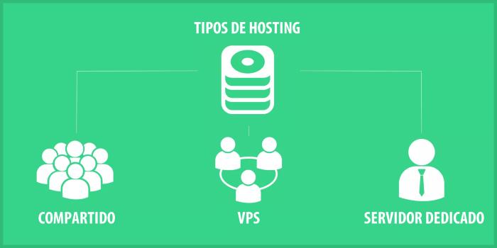 Principales tipos de hosting web: Compartido y Servidor Dedicado