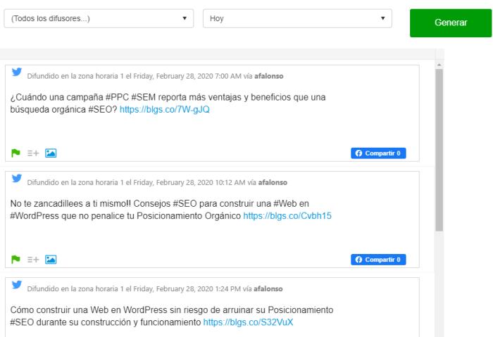 Publicaciones en la bandeja de salida de BlogsterApp de los últimos 7 días