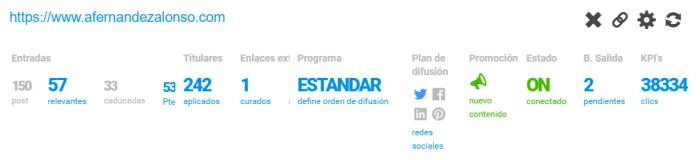 Resumen del estado de la planificación automática de un blog en BlogsterApp